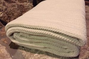 Organic Chenille Stripe Blanket by Organics and More and Earth Day Giveaway