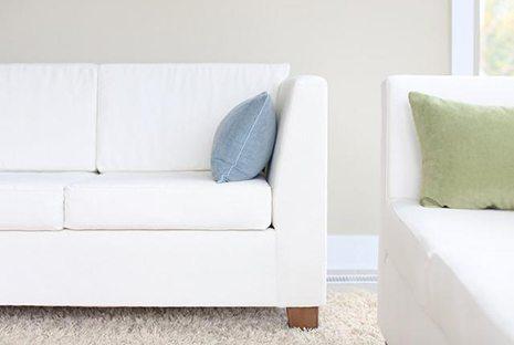 Savvy Rest Verona Sofa With Organic Hemp Cotton Blend Fabric