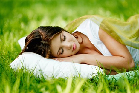 sleep on organic mattress